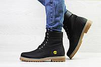 Женские зимние ботинки на меху Timberland, черные
