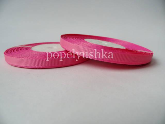 Стрічка репсова 0,6 см яскраво-рожева