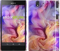 """Чехол на Sony Xperia Z C6602 Дым сиренево-желтый """"2741c-40"""""""