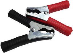Зажим-крокодил для клем 5А сталь з покриттям червоний/чорний (пара)