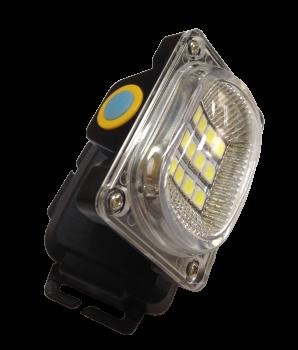 Ліхтар налоб.LED 5-7W 12диод. АКБ (3реж+стробоскоп+USB-шнур+рег.наклона+ремешок) ІНД.УП (R-6659A) R