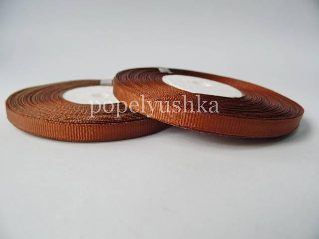 Стрічка репсова 0,6 см коричнева