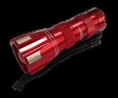 Ліхтарик LED метал. з шнурком микс грани на кільце(3*AAA,Zoom) (B92) (24шт/уп,480шт/ящ) ТМ LUMANO
