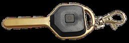 Ліхтарик-брелок ключ з карабіном LED 5W пласт.чорний (3реж.+стробоскоп+батар/комп) (R158)(24шт/уп) R