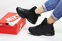 Женские зимние кроссовки на меху Nike 95, черные