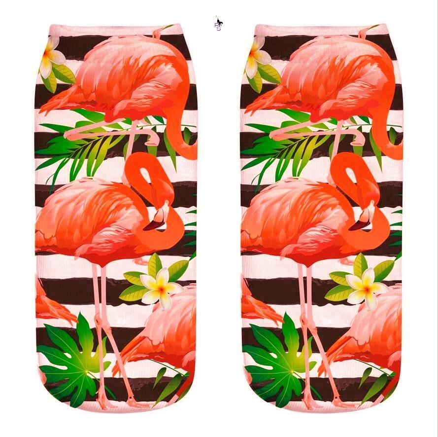"Красочные носочки ""Фламинго-5"" 16001 с ярким рисунком"