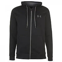 Худи Under Armour Rival Fitted Full Zip Black - Оригинал, фото 1