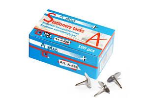 Кнопки хром A-PLUS 100 шт. в карт. упаковці