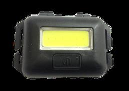 Ліхтарик налобний LED COB 10W (реал.3-5W) чорний пласт(3реж.+стробоскоп+ремешок 3*ААА) (T89) R