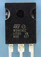 MOSFET N-канал 900В 8А 1.1Ом STM STW9NK90Z TO247 б/у