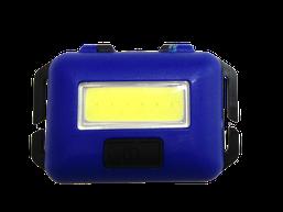 Ліхтарик налобний LED COB 10W (реал.3-5W) синій пласт(3реж.+стробоскоп+ремешок 3*ААА) (T89) R