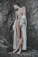 Кардиган вязаный ручной работы  цвет пломбир, фото 1