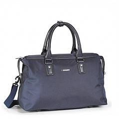 Классическая дорожная сумка - саквояж Долли 247 ( серый, черный, т.-синий)