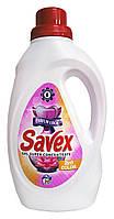 Концентрированное средство для стирки Savex Color 2 in 1 для цветных тканей - 1,1 л.