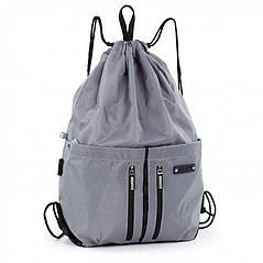 Спортивный, молодежный рюкзак-мешочек Dolly 842 с ручкой, 30*43*12 (черный, темно-синий, серый, бирюзовый)