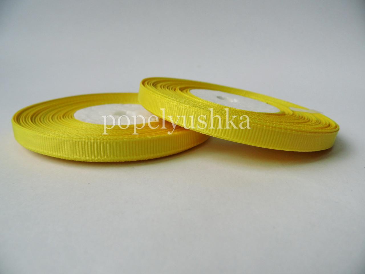 Стрічка репсова 0,6 см жовта