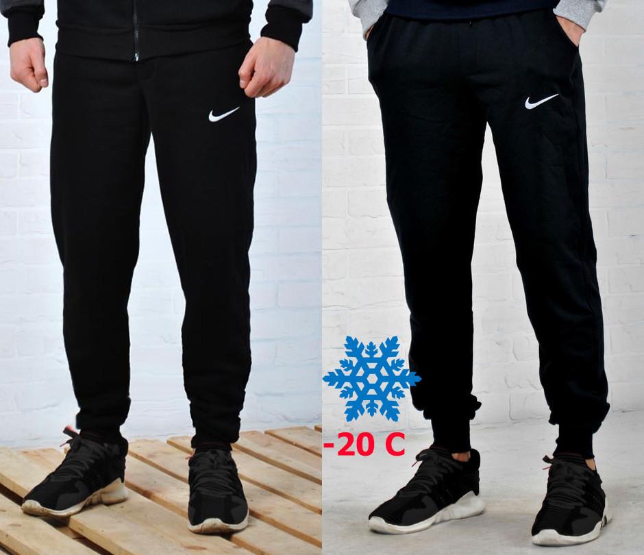 Зимние спортивные брюки, теплые штаны Nike с манжетом, фото 1