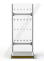 Стеллаж сетчатый 2350х950 мм, приставной металлический стеллаж