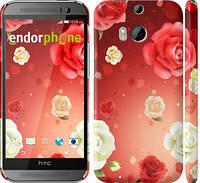 """Чехол на HTC One M8 dual sim Дождь из роз """"1873c-55"""""""