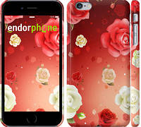 "Чехол на iPhone 6 Plus Дождь из роз ""1873c-48"""
