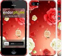 "Чехол на iPhone 5 Дождь из роз ""1873c-18"""