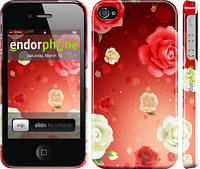 "Чехол на iPhone 4s Дождь из роз ""1873c-12"""