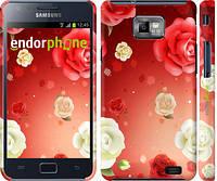 "Чехол на Samsung Galaxy S2 i9100 Дождь из роз ""1873c-14"""