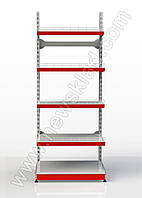 Стелаж прямий на стяжках приставний 2350*950 мм,Стеллаж прямой на стяжках приставной 2350*950 мм 5 полок