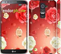 """Чехол на LG G2 Дождь из роз """"1873c-37"""""""