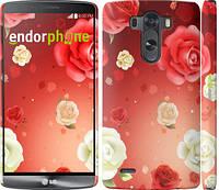 """Чехол на LG G3 D855 Дождь из роз """"1873c-47"""""""