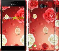 """Чехол на Sony Xperia M2 D2305 Дождь из роз """"1873c-60"""""""