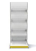 Стелаж з сітчастими кошиками приставний 1600*950 мм,Стеллаж с сетчатыми корзинами приставной 1600*950 мм