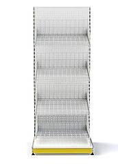 Стеллаж с сетчатыми корзинами 1600х950 мм Ристел, торговый приставной