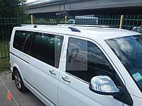 Рейлинги декоративные (с пластик. наконечн.) volkswagen t5, t6 transporter-фольксваген т5,т6 транспортер 2003+