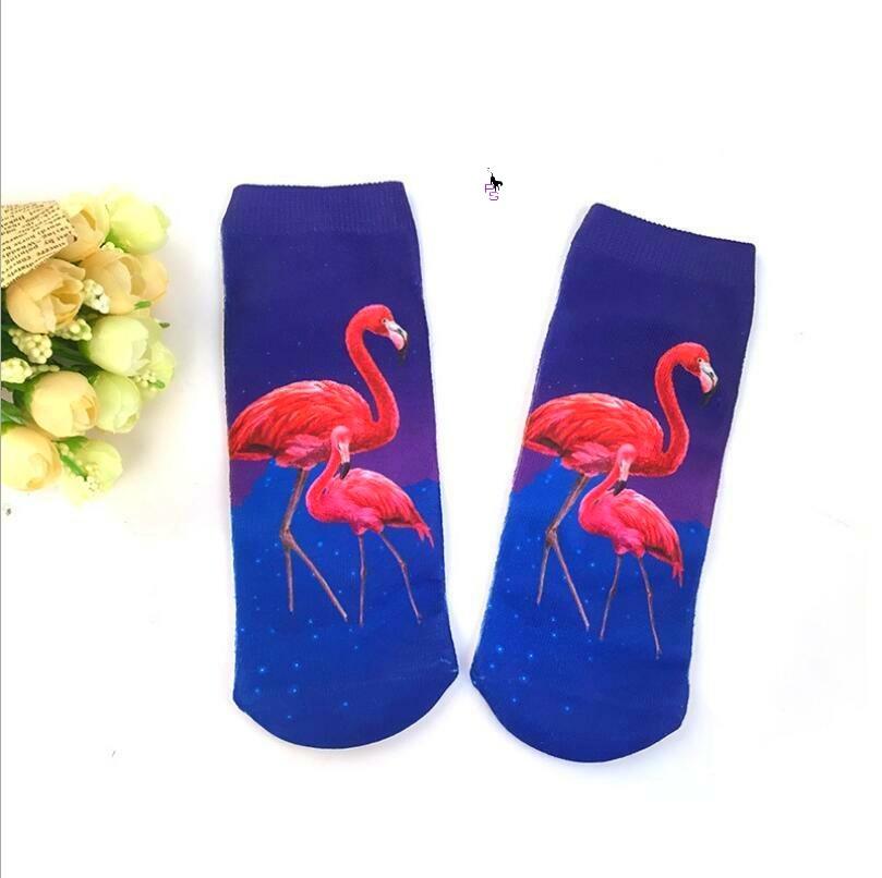 "Красочные носочки ""Фламинго-10"" 16009 с ярким рисунком"