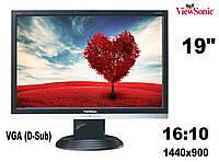 "Монитор 19"" View Sonic VA 191W чорный/1440x900 (царапини на матриці)(к.3962), фото 1"