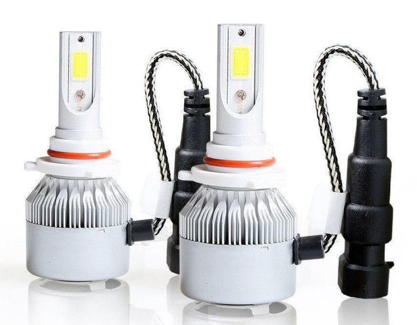 Автомобильные светодиодные Лед LED лампы в фары C6 9006 (HB4) 7600lm 6000K