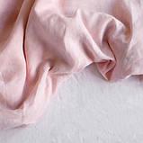Постельное белье из льна Микс Розовый+Белый, фото 2