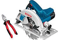 Ручная циркулярная пила Bosch GKS 190 Professional + Wiha (1.4 кВт, 184-190 мм) (0615990K33)