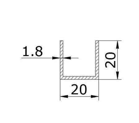 Профиль Black 20х20х20, фото 2
