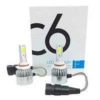 Автомобильные светодиодные Лед LED лампы Headlight в фары C6 (9006) HB4 3800lm 6000K