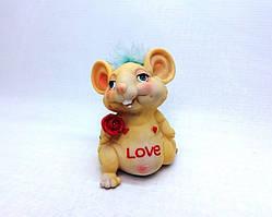 Копилка Love 13х9 см, Копилка мышь, подарок на Новый Год 2020, копилка символ Нового Года