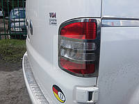 Хром накладки на стопы (задние фары) volkswagen t5, t6 transporter (фольксваген т5, т5+(т6) транспортер 2003+)