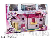 Кукольный дом 16428 с куклами,мебелью батар.муз.свет.