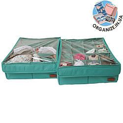 Коробочки с крышками для нижнего белья 2 шт ORGANIZE (лазурь)
