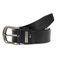 Ремень мужской черный кожаный Calvin Klein