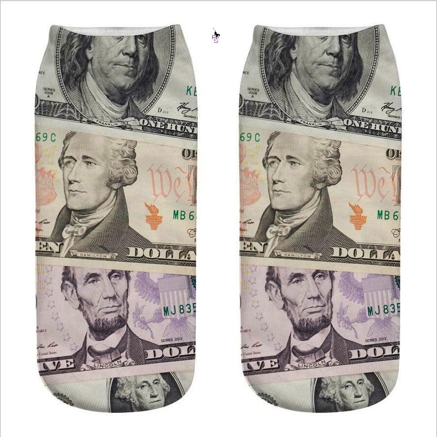 """Крутые носочки """"Доллары"""" 16014 с ярким рисунком"""