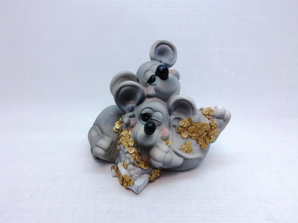 Копилка мышь 12х12 см, подарок на Новый Год 2020, копилка символ Нового Года