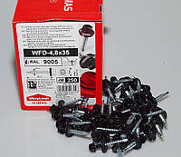 Кровельные саморезы для профнастила и металлочерепицы к дереву 4,8х35 мм Wkret-Met WFD Польша RAL 9005