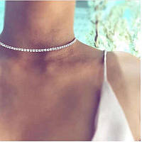 Чокер ожерелье на шею стразы